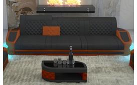 3 Sitzer Sofa DIABLO mit LED Beleuchtung & USB Anschluss
