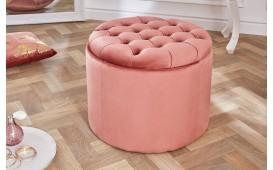 Designer Sitzhocker ROCCO BIG PINK 50 cm