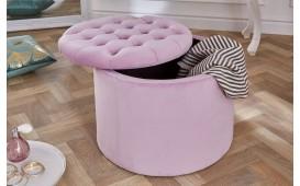 Designer Sitzhocker ROCCO BIG LILA 50 cm von NATIVO™ Designer Möbel Österreich