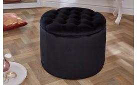 Designer Sitzhocker ROCCO BIG BLACK 50 cm