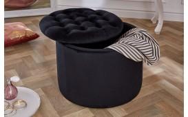 Designer Sitzhocker ROCCO BIG BLACK 50 cm von NATIVO™ Designer Möbel Österreich