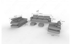 Designer Sofa EXODUS 3+2+1 mit LED Beleuchtung & USB Anschluss NATIVO™ Möbel Österreich