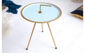 Designer Couchtisch SIMPLY BRIGHT TIRKIZ-GOLD 42 cm