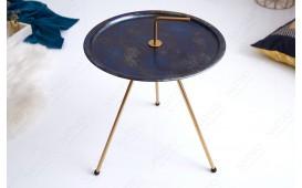 Designer Couchtisch SIMPLY BRIGHT BLUE-GOLD 42 cm von NATIVO™ Designer Möbel Österreich