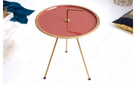 Designer Couchtisch SIMPLY BRIGHT CORAL-GOLD 42 cm
