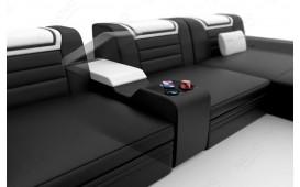 Designer Sofa NEMESIS XXL mit LED Beleuchtung & USB Anschluss
