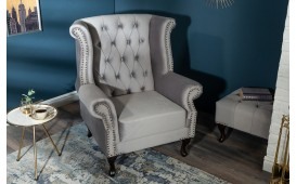 Designer Relaxsessel CHESTER SILVER GREY