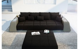 BIG Sofa VICE mit LED Beleuchtung (HUGO 14/ GRAU) AB LAGER