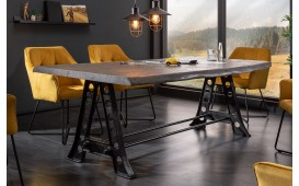 Designer Esstisch TAURUS INDUSTRIAL 220 cm GREY