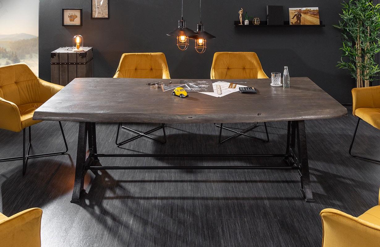 Esstisch TAURUS INDUSTRIAL 220 cm GREY von NATIVO Designer Möbel Österreich