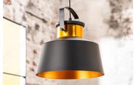 Designer Hängeleuchte LUS I 28 cm BLACK-GOLD