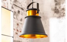 Designer Hängeleuchte LUS II 25 cm BLACK-GOLD