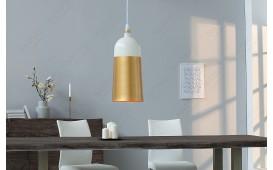 Designer Hängeleuchte MOD I 31 cm WHITE-GOLD von NATIVO™ Designer Möbel Österreich