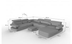 Designer Sofa EXODUS XXL mit LED Beleuchtung & USB Anschluss NATIVO™ mobili Italia