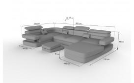 Designer Sofa EXODUS XL mit LED Beleuchtung & USB Anschluss NATIVO™ Möbel Österreich