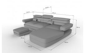 Designer Sofa EXODUS MINI mit LED Beleuchtung & USB Anschluss NATIVO™ Möbel Österreich