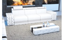 3 Sitzer Sofa IMPERIAL mit LED Beleuchtung (Weiss) AB LAGER