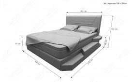 Boxspringbett NEMESIS in Leder inkl. Topper & USB Anschluss von NATIVO™ Designer Möbel Österreich