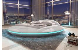Designer Lederbett MARS mit Stauraum-Funktion inkl. LED Beleuchtung & USB Anschluss NATIVO™ Möbel Österreich
