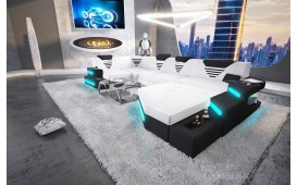 Designer Sofa NEMESIS XL mit LED Beleuchtung & USB Anschluss AB LAGER