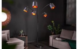 Designer Stehleuchte LEVELTY BLACK-GOLD 202 cm