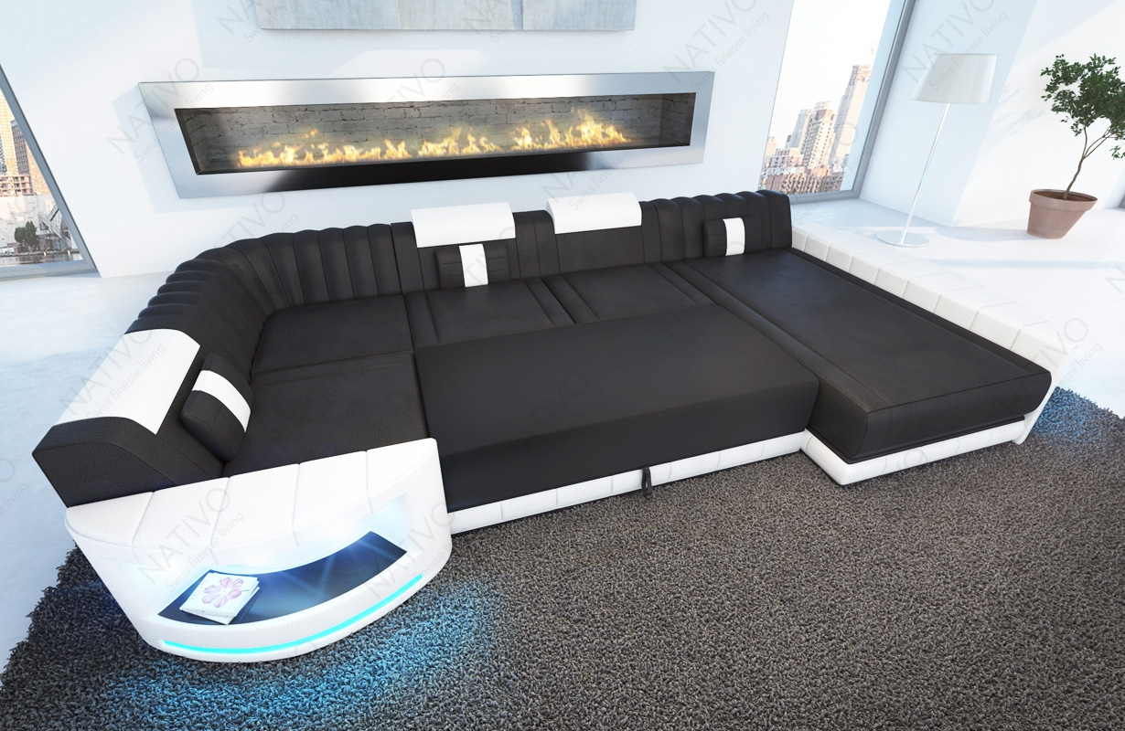 Ecksofa mit led beleuchtung turino xl led beleuchtung for Couch beleuchtung
