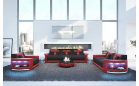 Designer Sofa ATLANTIS 3+2+1 mit LED Beleuchtung