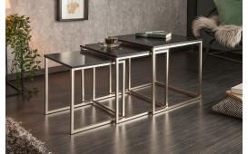Designer Couchtisch UNITY BLACK 3 Set-NATIVO™ Designer Möbel Österreich