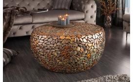 Designer Couchtisch BLOCK GOLD 82 cm