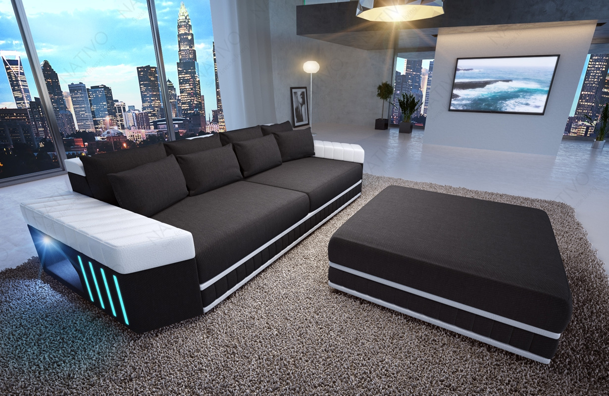 home designer sofas big sofa skyline mit led beleuchtung. Black Bedroom Furniture Sets. Home Design Ideas