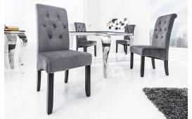 2 x Designer Stuhl ROSSI GREY BLACK