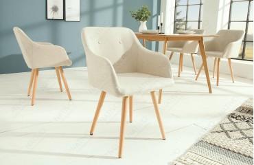2 x Designer Stuhl SQUARE BEIGE-NATIVO™ Designer Möbel Österreich