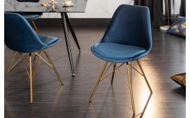 2 x Designer Stuhl SCANIA RETRO BLUE-GOLD-NATIVO™ Designer Möbel Österreich