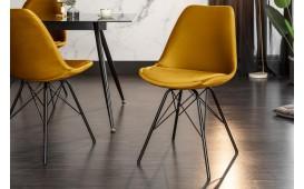 2 x Designer Stuhl SCANIA RETRO YELLOW-NATIVO™ Designer Möbel Österreich