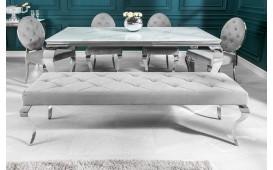 Designer Polsterbank ROCCO SILVER 170 cm