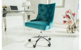 Designer Bürostuhl STUFFY BLUE