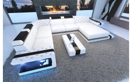 Designer Sofa IMPERIAL XXL mit LED Beleuchtung