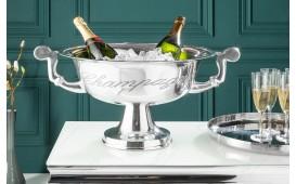 Designer Champagner-Kühler CAMPANIE SILVER S