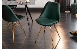2 x Designer Stuhl SCANIA RETRO GREEN-GOLD