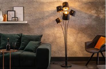 Designer Stehleuchte LEVELTY BLACK-GOLD 178 cm-NATIVO™ Designer Möbel Österreich