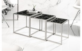 Designer Beistelltisch UNITY GLASS BLACK 3-NATIVO™ Designer Möbel Österreich