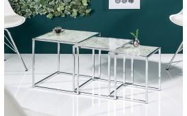 Designer Beistelltisch UNITY GLASS WHITE 3-NATIVO™ Designer Möbel Österreich