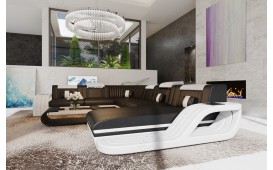 Designer Sofa ROYAL XXL mit LED Beleuchtung & USB Anschluss
