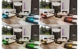 2 Sitzer Sofa ROYAL mit LED Beleuchtung & USB Anschluss