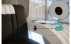 Sessel ROYAL mit LED Beleuchtung & USB Anschluss