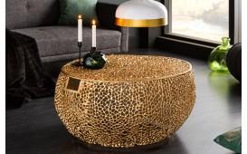 Designer Couchtisch POCAHONTAS HANDLE GOLD 80 cm