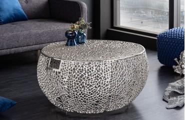 Designer Couchtisch POCAHONTAS HANDLE SILVER 80 cm-NATIVO™ Designer Möbel Österreich