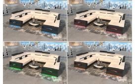 Designer Sofa AVATAR CORNER U FORM mit LED Beleuchtung & USB Anschluss-NATIVO™ Designer Möbel Österreich