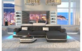 Designer Sofa EXODUS MINI mit LED Beleuchtung & USB Anschluss (Schwarz/Weiss) AB LAGER-NATIVO™ Designer Möbel Österreich