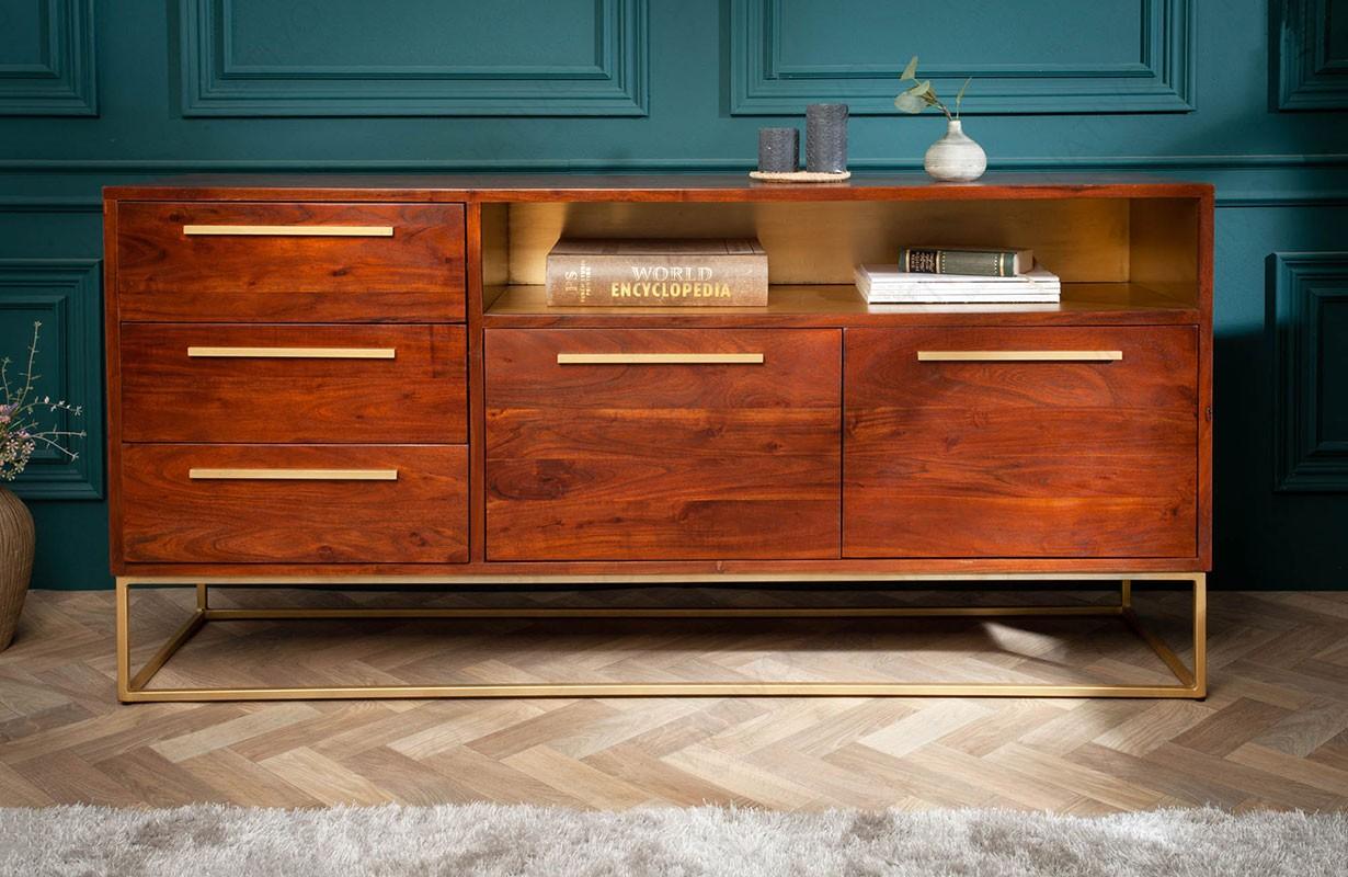 Designer Sideboard FLAT GOLD 165 cm von NATIVO Designer ...